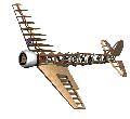 Rendu 3D de la structure du Hughes 1b